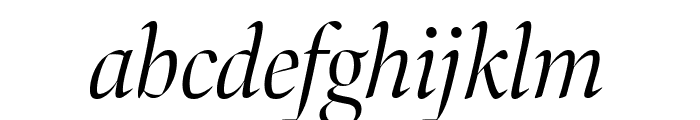 Bennet Banner Extra Condensed Light Italic Font LOWERCASE