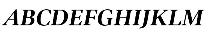 Bennet Display Bold Italic Font UPPERCASE