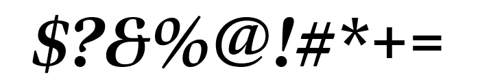 Bennet Display Condensed Bold Italic Font OTHER CHARS