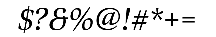 Bennet Display Condensed Italic Font OTHER CHARS