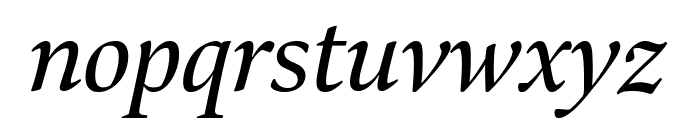 Bennet Display Condensed Italic Font LOWERCASE
