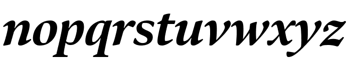Bennet Display Extra Bold Italic Font LOWERCASE