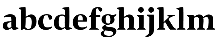 Bennet Display Extra Bold Font LOWERCASE