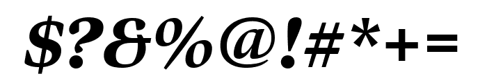 Bennet Display Extra Condensed Black Italic Font OTHER CHARS