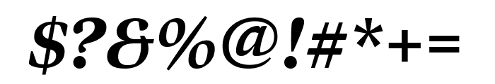 Bennet Display Extra Condensed Extra Bold Italic Font OTHER CHARS