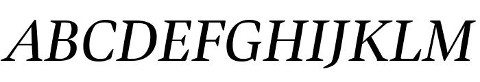 Bennet Display Italic Font UPPERCASE