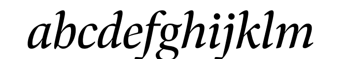 Bennet Display Italic Font LOWERCASE