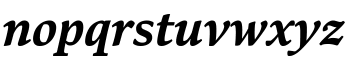 Bennet Text Four Bold Italic Font LOWERCASE