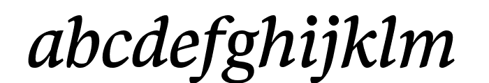 Bennet Text One Italic Font LOWERCASE