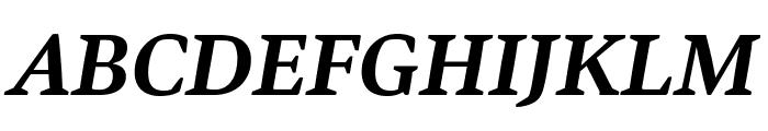 Bennet Text One Semi Bold Italic Font UPPERCASE
