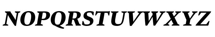 Bennet Text Three Bold Italic Font UPPERCASE