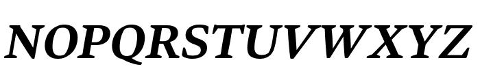 Bennet Text Three Semi Bold Italic Font UPPERCASE