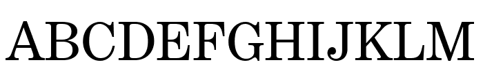 Benton Modern Roman Font UPPERCASE