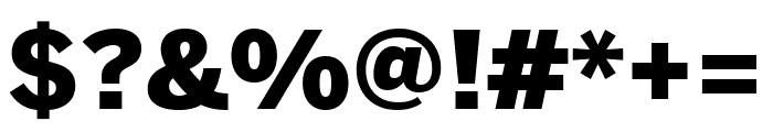 Benton Sans Black Font OTHER CHARS