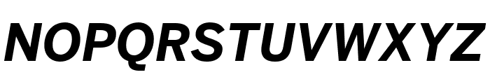 Benton Sans Bold Italic Font UPPERCASE