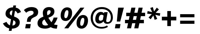 Benton Sans Compressed Bold Italic Font OTHER CHARS