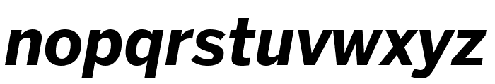 Benton Sans Compressed Bold Italic Font LOWERCASE