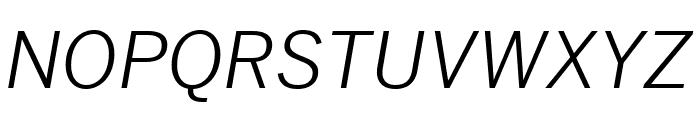 Benton Sans Compressed Book Italic Font UPPERCASE