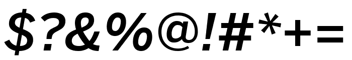 Benton Sans Compressed Medium Italic Font OTHER CHARS