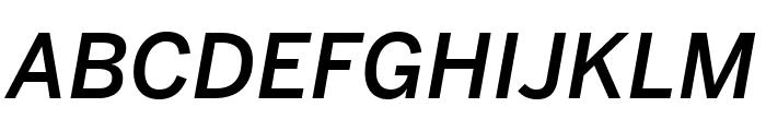 Benton Sans Compressed Medium Italic Font UPPERCASE