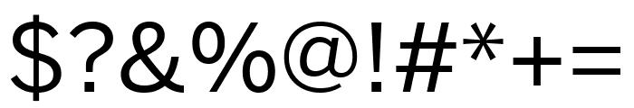 Benton Sans Compressed Regular Font OTHER CHARS