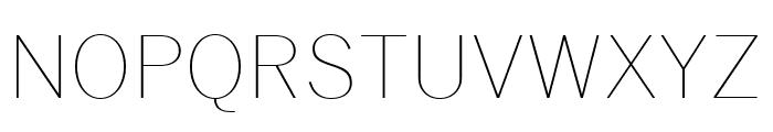 Benton Sans Compressed Thin Font UPPERCASE
