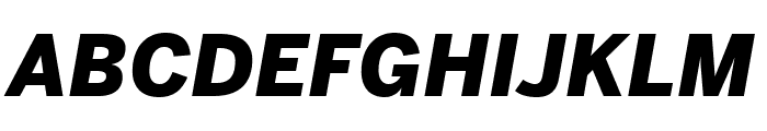 Benton Sans Condensed Black Italic Font UPPERCASE