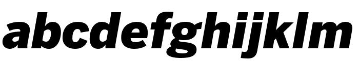 Benton Sans Condensed Black Italic Font LOWERCASE