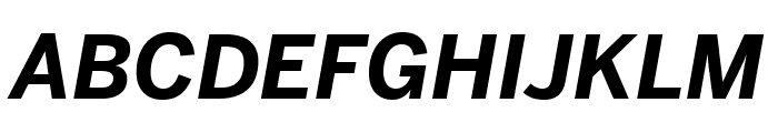 Benton Sans Condensed Bold Italic Font UPPERCASE