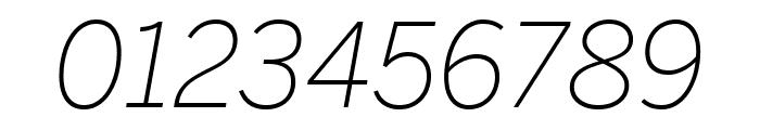 Benton Sans Condensed Extra Light Italic Font OTHER CHARS