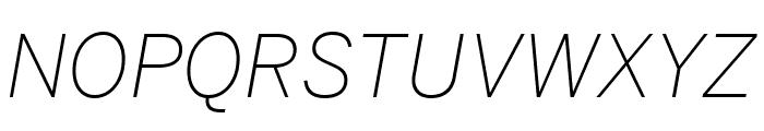 Benton Sans Condensed Extra Light Italic Font UPPERCASE