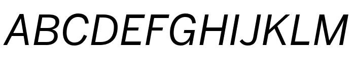 Benton Sans Condensed Italic Font UPPERCASE