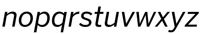 Benton Sans Condensed Italic Font LOWERCASE