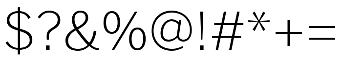 Benton Sans Condensed Light Font OTHER CHARS