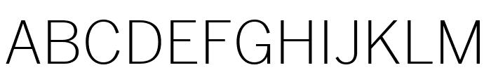 Benton Sans Condensed Light Font UPPERCASE