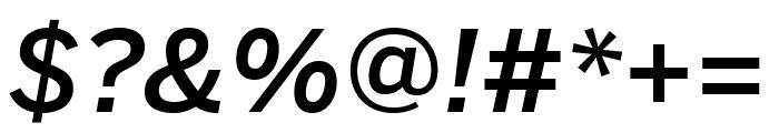 Benton Sans Condensed Medium Italic Font OTHER CHARS