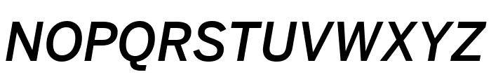 Benton Sans Condensed Medium Italic Font UPPERCASE
