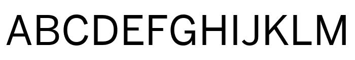 Benton Sans Condensed Regular Font UPPERCASE