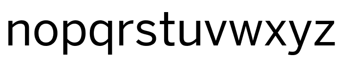 Benton Sans Condensed Regular Font LOWERCASE