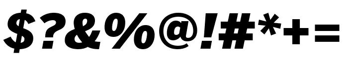 Benton Sans Extra Compressed Black Italic Font OTHER CHARS