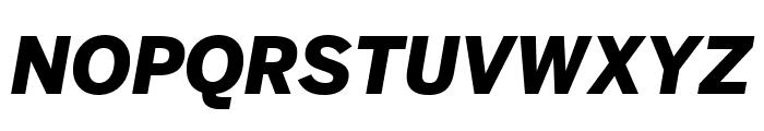 Benton Sans Extra Compressed Black Italic Font UPPERCASE