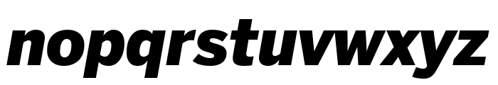 Benton Sans Extra Compressed Black Italic Font LOWERCASE