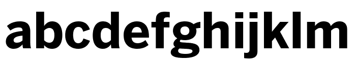 Benton Sans Extra Compressed Bold Font LOWERCASE