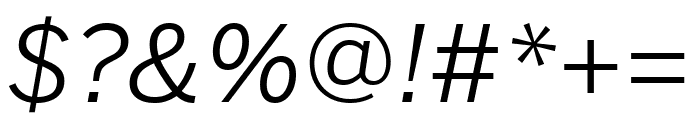 Benton Sans Extra Compressed Book Italic Font OTHER CHARS