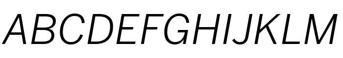 Benton Sans Extra Compressed Book Italic Font UPPERCASE