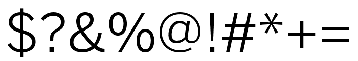 Benton Sans Extra Compressed Book Font OTHER CHARS