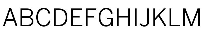 Benton Sans Extra Compressed Book Font UPPERCASE
