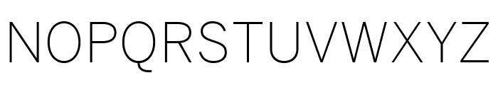 Benton Sans Extra Compressed Extra Light Font UPPERCASE