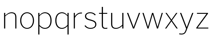 Benton Sans Extra Compressed Extra Light Font LOWERCASE