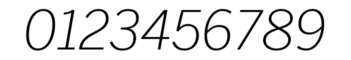 Benton Sans Extra Compressed Light Italic Font OTHER CHARS